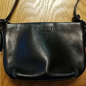 Black leather Coach small bag